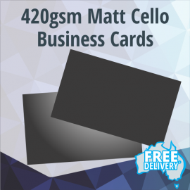 Business Cards - 420gsm - Matt Coated - Full Colour