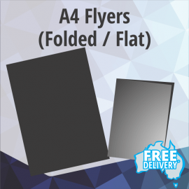 Flyers - A4 - 150gsm Gloss - Full Colour - Flat / Folded - 210x297mm