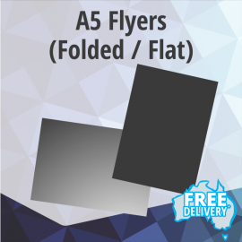 Flyers - A5 - 150gsm Gloss - Full Colour - Flat / Folded - 148.5x210mm