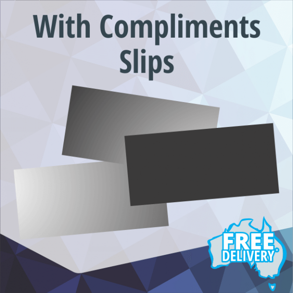 With Compliments Slips - DL - Full Colour - 210x99mm
